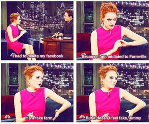 emma stone, facebook, and funny image