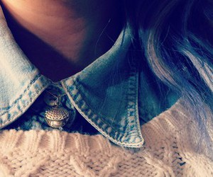 collar, denim, and hair image
