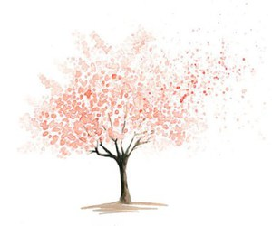 graphic, pink, and tree image