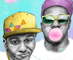 hip-hop, illustration, and watercolor image