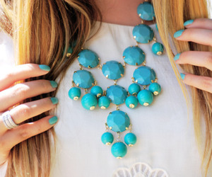 nails, necklace, and blue image