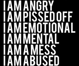 angry, i, and emotional image