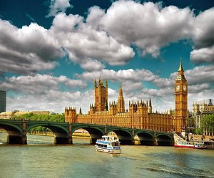 london, clouds, and sky image