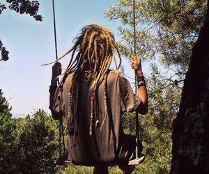 dreads, dreadlocks, and swing image