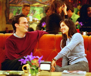 friends, chandler bing, and monica image
