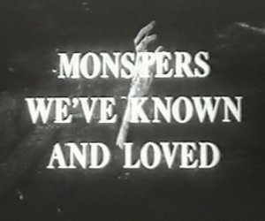 monster, black and white, and text image