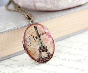 paris, necklace, and vintage image