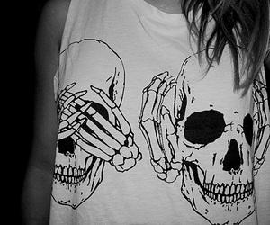 skull, girl, and fashion image