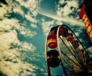 sky, ferris wheel, and photography image