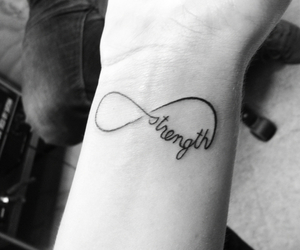 infinity, strength, and ink'd image