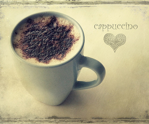 coffee, cappuccino, and girl image