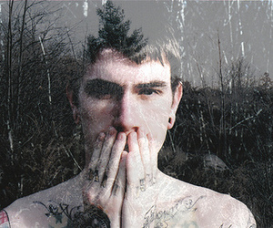 boy, tattoo, and nature image