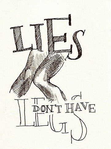 illustration, lies, and type image
