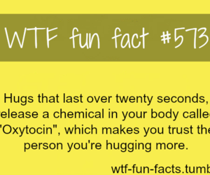 hug, quote, and wtf fun fact image