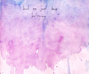 quote, blue, and pink image
