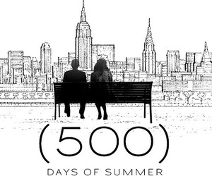 500 Days of Summer, black and white, and love image