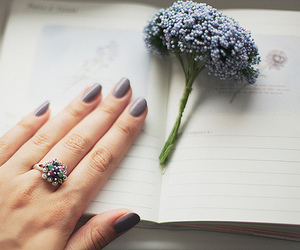 flowers, nails, and vintage image
