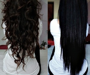 hair, black, and curly image
