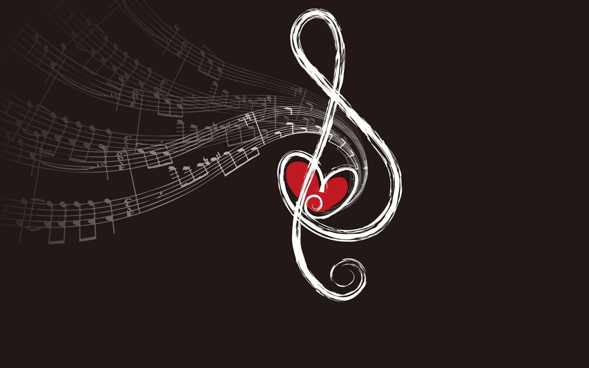 background, love note, and music image