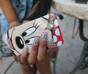 nails, iphone, and minnie image