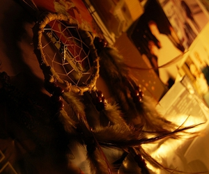 bedroom, feather, and dream catcher image