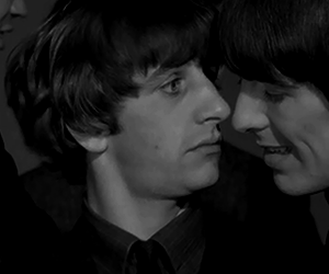 george harrison, the beatles, and starrison image