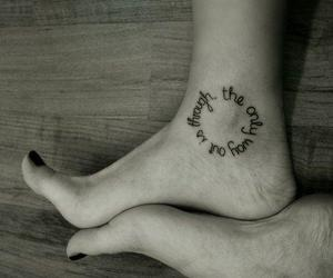 tattoo, quotes, and feet image