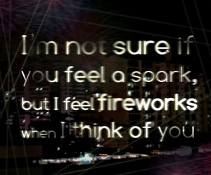 fireworks, love, and quote image