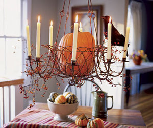 candle, decoration, and Halloween image