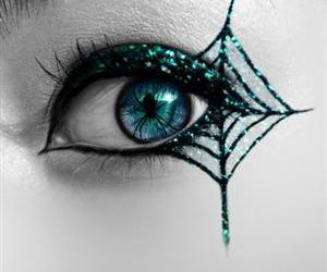 eye, spider, and Halloween image
