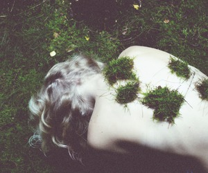 back, blonde, and forest image