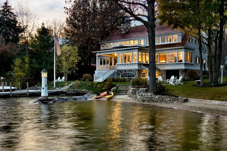 cottage, waterfront, and nh image