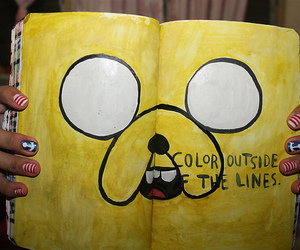 yellow, adventure time, and jake the dog image