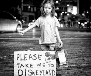 disneyland, disney, and black and white image