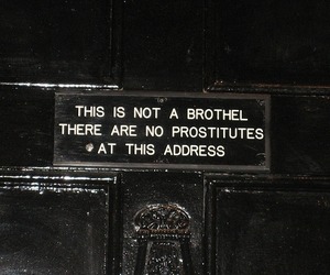 brothel, prostitutes, and sign image