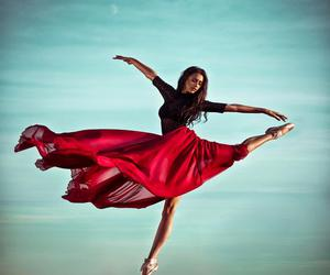 dance, ballet, and red image