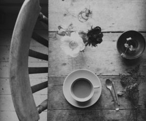flowers, vintage, and coffee image