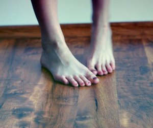 cold, feet, and floor image