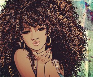:), african american, and Afro image