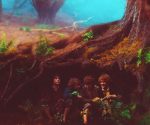 elijah wood, merry, and pippin image