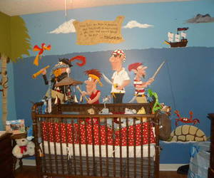 baby, pirate, and nursery image