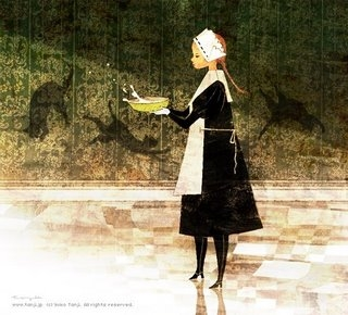 art, cats, and dress image