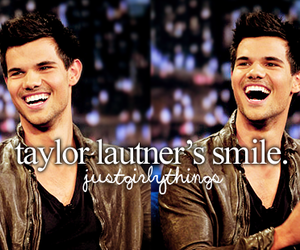 smile and Taylor Lautner image