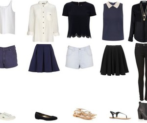 clothes, navy, and pretty image