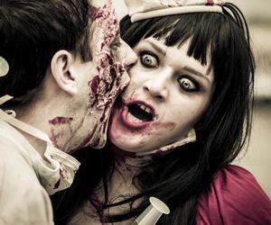 Halloween, nurse, and zombie image