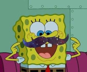 mustache, spongebob, and moustache image