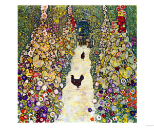 1916, klimt, and gardenpath with hens image