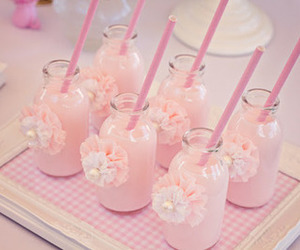 pink, drink, and pastel image