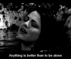 alone, amy lee, and black & white image