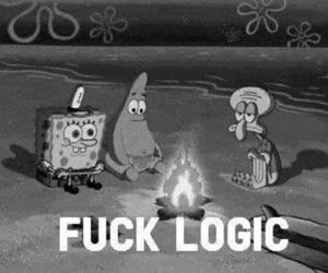 ha, fuck logic, and black and white.text image